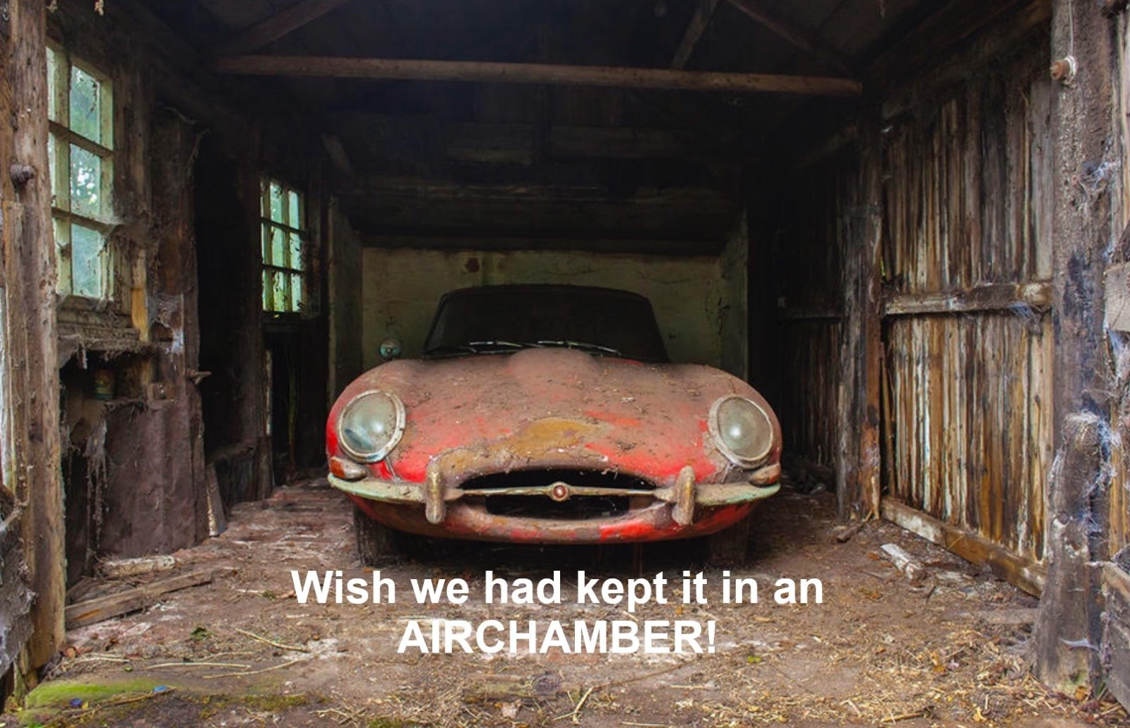 The result of car storage without an Airchamber!